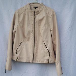 Apt 9 light pink vegan leather jacket xl